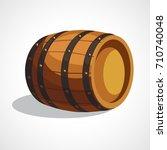 cartoon illustration of wooden... | Shutterstock .eps vector #710740048