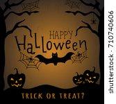 happy halloween. vector poster... | Shutterstock .eps vector #710740606
