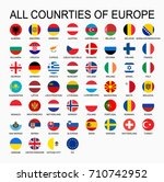 vector set all flags of europe  ... | Shutterstock .eps vector #710742952