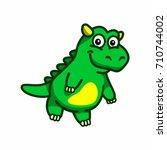green dragon baby | Shutterstock .eps vector #710744002