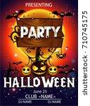 halloween party cartoon | Shutterstock .eps vector #710745175