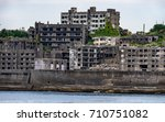 ghost town on an abandoned... | Shutterstock . vector #710751082