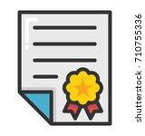 diploma vector icon | Shutterstock .eps vector #710755336