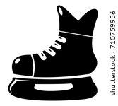 ice hockey skate icon . simple... | Shutterstock .eps vector #710759956