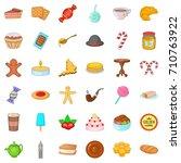 tea icons set. cartoon style of ...   Shutterstock .eps vector #710763922