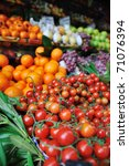 fresh healthy organic food ... | Shutterstock . vector #71076394