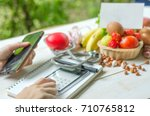 meal plan  smart mobile apps... | Shutterstock . vector #710765812