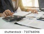 audit concept  business people... | Shutterstock . vector #710766046