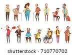 senior man old disable citizens ... | Shutterstock .eps vector #710770702