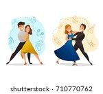 classic pair dance 2 web... | Shutterstock .eps vector #710770762