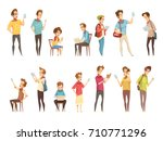 teenage boys groups with... | Shutterstock .eps vector #710771296