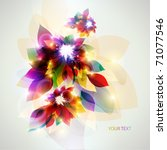 three beautiful colorful flower | Shutterstock .eps vector #71077546
