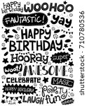 happy birthday party typography ... | Shutterstock .eps vector #710780536