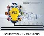 business meeting and... | Shutterstock .eps vector #710781286