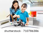 mother and son are studying...   Shutterstock . vector #710786386