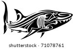 shark tattoo | Shutterstock .eps vector #71078761