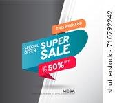 sale banner template design.... | Shutterstock .eps vector #710792242