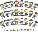 kids and boys background | Shutterstock .eps vector #710792512