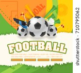 football poster event postcard... | Shutterstock .eps vector #710795062