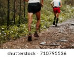 dirty feet runner man running a ... | Shutterstock . vector #710795536