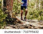 runner athlete running on... | Shutterstock . vector #710795632