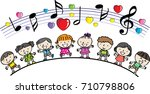 kids and boys background  | Shutterstock .eps vector #710798806