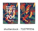 nature sale poster and flyer... | Shutterstock .eps vector #710799556