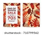nature sale poster and flyer... | Shutterstock .eps vector #710799562