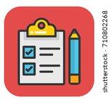 clipboard vector icon | Shutterstock .eps vector #710802268