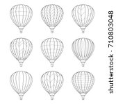 set of air balloon icons.... | Shutterstock .eps vector #710803048