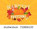 horizontal 'harvest festival'... | Shutterstock .eps vector #710806135