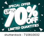 final sale  special offer  up... | Shutterstock .eps vector #710810032