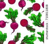 seamless background of ripe...   Shutterstock .eps vector #710811808