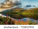 epic scenic loch in the... | Shutterstock . vector #710815942