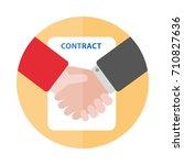 handshake shaking hands flat... | Shutterstock .eps vector #710827636