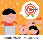 motivational speaker talks to a ...   Shutterstock .eps vector #710830972