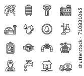 water supply icon set. line... | Shutterstock .eps vector #710831065