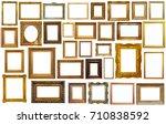 set of isolated art empty... | Shutterstock . vector #710838592
