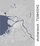 vector map saint petersburg ... | Shutterstock .eps vector #710843542