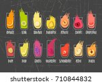 vector collection of hand drawn ... | Shutterstock .eps vector #710844832