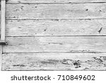 white painted planks of wood... | Shutterstock . vector #710849602