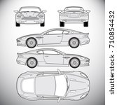 automobile.template for graphic ... | Shutterstock . vector #710854432