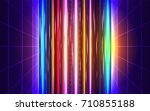 80s futuristic style abstract... | Shutterstock .eps vector #710855188