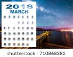 March 2018 Calendar With...