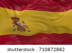 national flag of the spain...   Shutterstock . vector #710872882