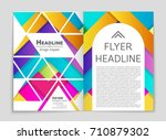 abstract vector layout... | Shutterstock .eps vector #710879302