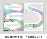 abstract vector layout... | Shutterstock .eps vector #710883145