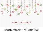 merry christmas and new year... | Shutterstock .eps vector #710885752