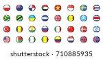 round glossy national flag of... | Shutterstock .eps vector #710885935