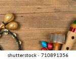 Flat Lay Of Latin Percussion O...